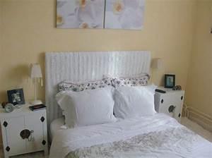 Tete De Lit Rideau : nouvelle chambre photo 1 14 t te de lit recouverte d ~ Preciouscoupons.com Idées de Décoration
