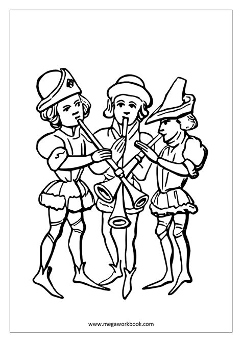 Coloring Sheet by Free Coloring Sheets Musical Instruments Megaworkbook