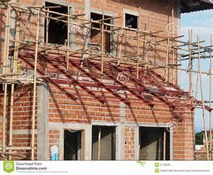 Brick House Under Construction Stock Photography - Image ...
