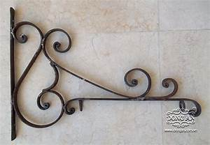 Top wrought iron sign bracket style European