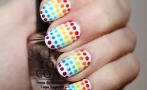 Diy nail art rainbow nails tutorial myperfectline g