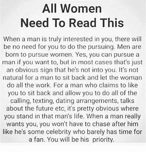 Men Must Pursue Women - ACW - Anne Cohen Writes