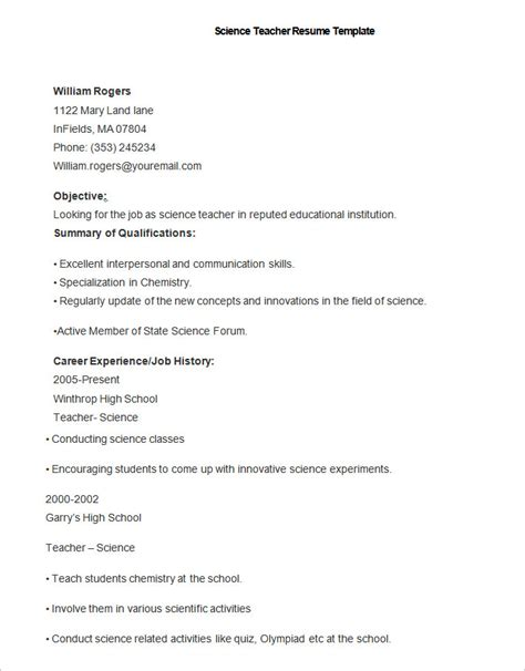 Science Resume Summary by 51 Resume Templates Free Sle Exle Format