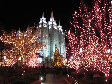 themed christmas wreaths salt lake temple christmas