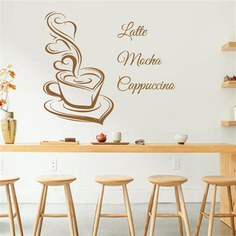 Kitchen Painting Ideas Pictures - art design coffee wall decals latte mocha cappuccino coffee cup with love kitchen interior mural