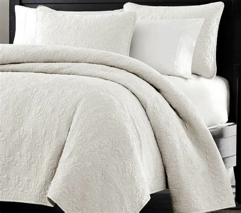 Quilted Coverlet Set by 3pc Oversized Quilted Coverlet Set White With