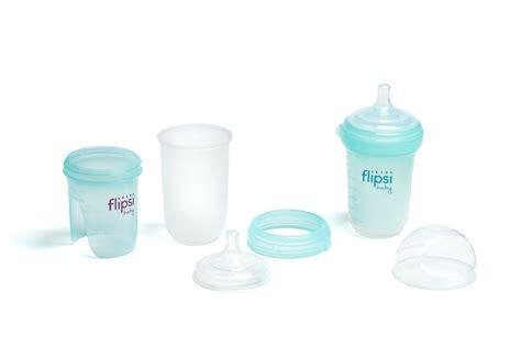 New Flipsi Baby Feeding Bottle Flips Inside Out For Easier