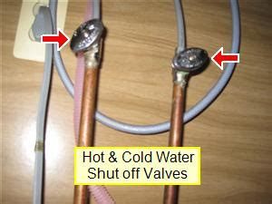 kitchen sink water shut valve water plumbing problems bath and dishwasher home 9582