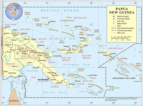 maps  papua  guinea map library maps   world