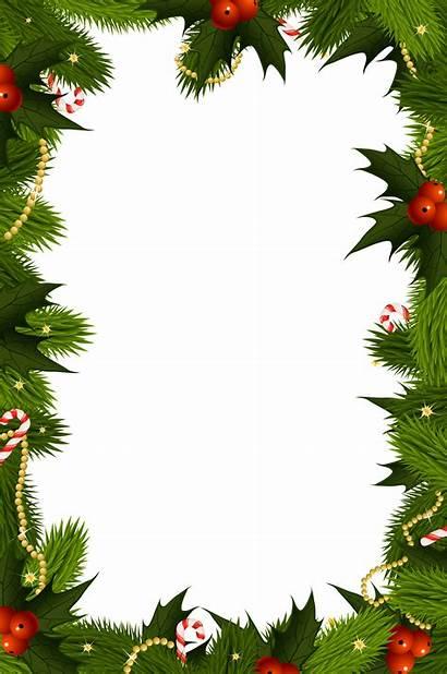 Border Christmas Transparent Frame Frames Clipart Yopriceville