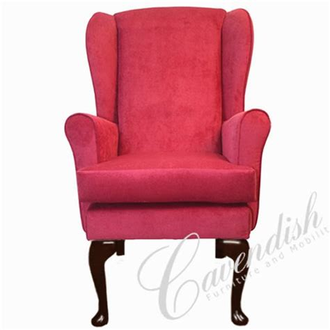 gloucester orthopedic high seat chair in claret 21 seat