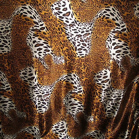 Animal Print Upholstery Fabric By The Yard by Leopard Animal Print Charmeuse Fabric 58 Quot Wide By The Yard