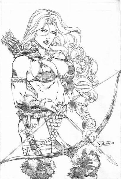 Sonja Comic Adult Coloring Pages Line Adrian