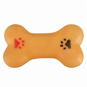 Buy Pet Dog Chew Toy Soft Small Rubber Bone Squeaky Toy ...