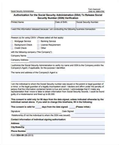 social security employment verification form social security verification form sles 9 free