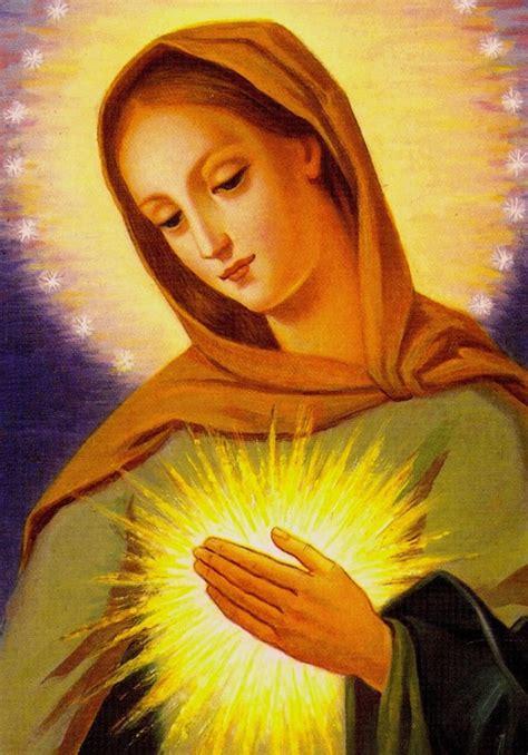 la flamme damour du coeur immacule de marie images saintes