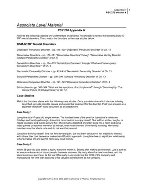 PSY 270 Appendix H
