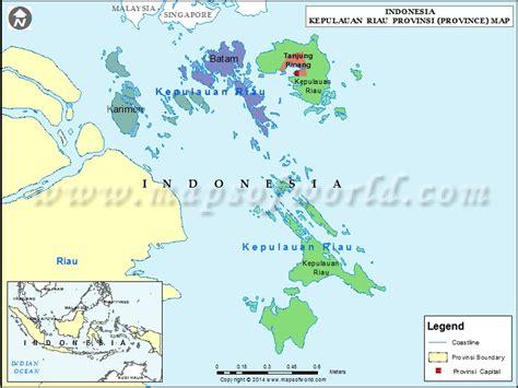 kepulauan riau map map of kepulauan riau province indonesia
