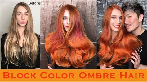 Block Color Ombre Hair
