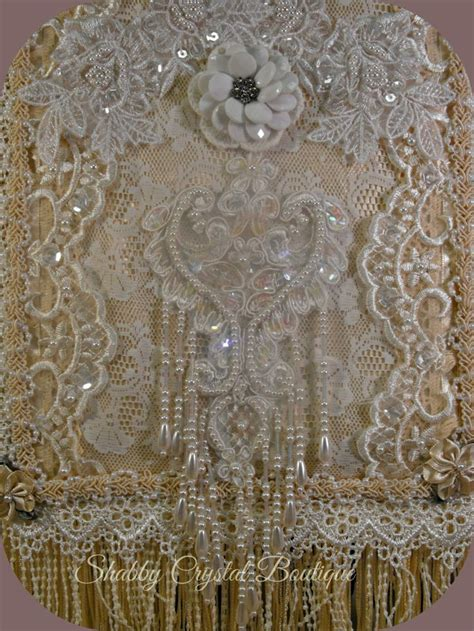 shabby chic fabric wall hangings 17 best images about fabric lace wall hanging s on pinterest vintage fabrics ebay and shabby chic