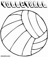 Volleyball Coloring Pages Drawing Ball Getdrawings sketch template
