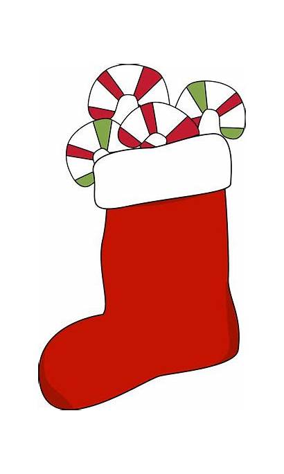 Christmas Stocking Clip Clipart Candy Stockings Filled