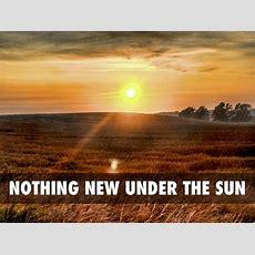 Nothing New Under The Sun — Desirée M Mondesir