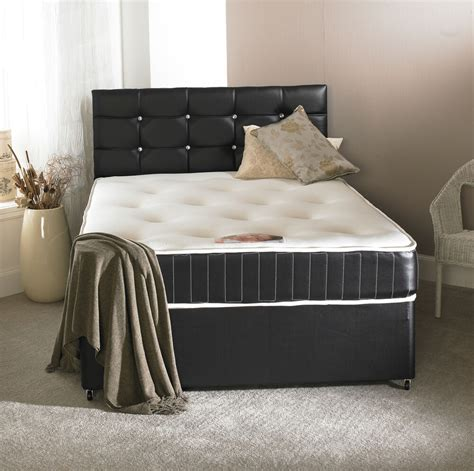 Divan Beds With Headboards by 4ft6 Faux Leather Divan Bed Memory Mattress
