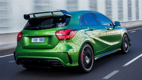 Maximum torque has also increased from 475 to up to 500 newton metres. Mercedes-AMG A 45 Aerodynamics Package (2016) AU Wallpapers and HD Images - Car Pixel