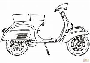 Motor Scooter Piaggio Vespa 125 Sprint coloring page ...
