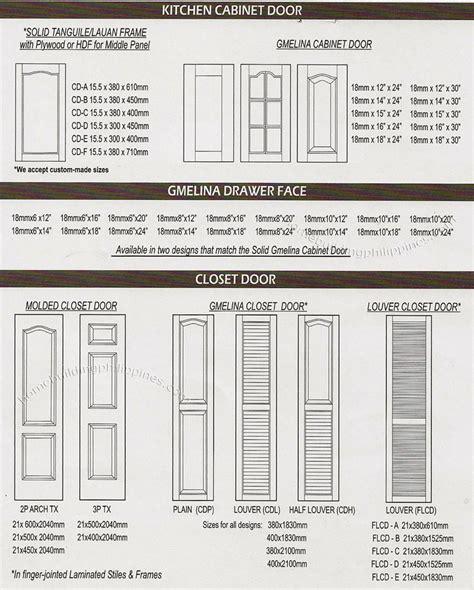 Kitchen Cabinet Door, Gmelina Drawer Face, Closet Door
