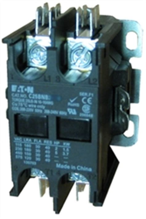 c25bnb230a eaton definite purpose 2 pole contactor at 30 s with a 110v50hz 120v60hz ac coil