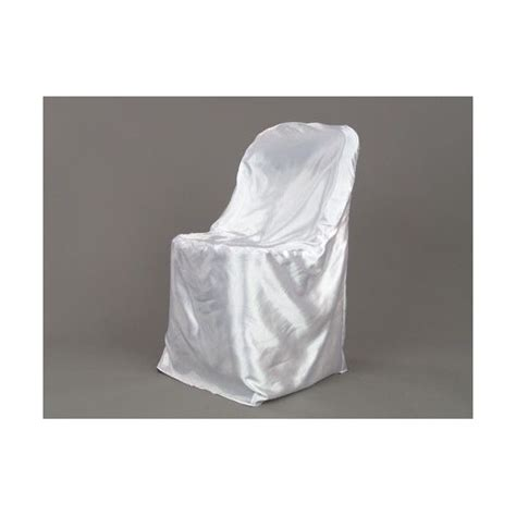 universal satin chair cover white