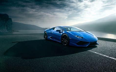 Blue Car Wallpaper by Lamborghini Huracan Blue Luxury Supercar Road Clouds