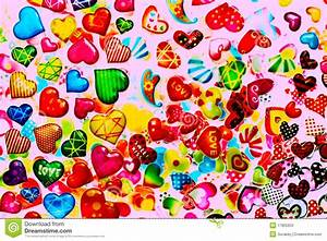 Colorful Heart Shape Isolated On White Background Stock ...