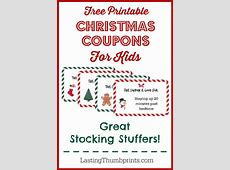 FREE Christmas Coupon Printable for kids Free Homeschool