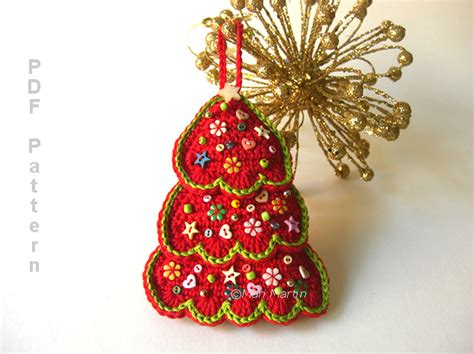 christmas ornament tree and coasters pattern crochet