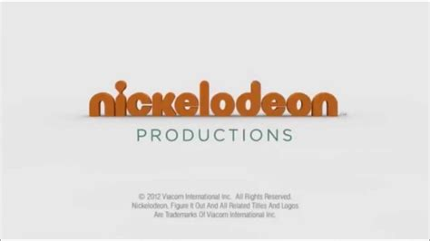 Nickelodeon Productions 2012 (FULL) - YouTube