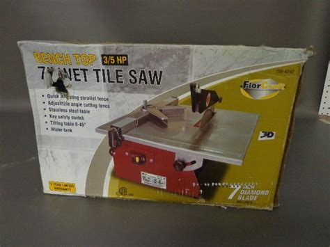 Florcraft Tile Saw With Stand 7 by 2nd Store Closing Liquidation In Hibbing Minnesota
