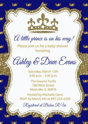 Prince Gold Blue Glitter Royal Baby Shower Birthday