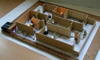 maqueta de una casa iluminada con leds diorama taller html electrificaci 243 n de vivienda
