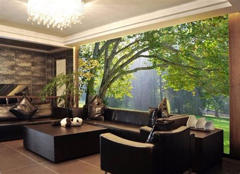3d Wallpapers For Room Wall by 3d Mural Wallpaper Scenery For Living Room Tv Background