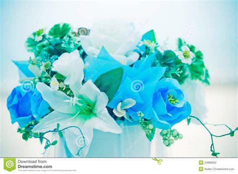 romantic flowers bouquet  blue sky stock photography