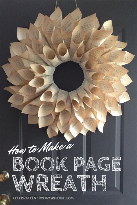 book page wreath celebrate  day