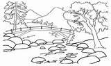 Coloring Pemandangan Gambar Mewarnai Mountain Sketsa Alam Landscape Untuk Drawing Nature Gunung Lukisan Printable Pegunungan Hitam Putih Indah Anak Contoh sketch template