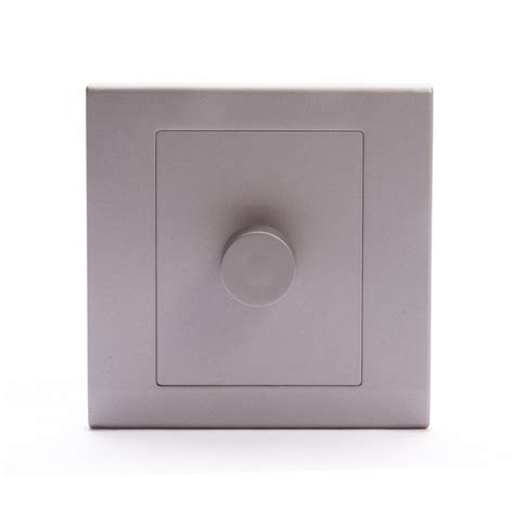 dimmer light switch simplicity led dimmer light switch 1 2 way mid grey