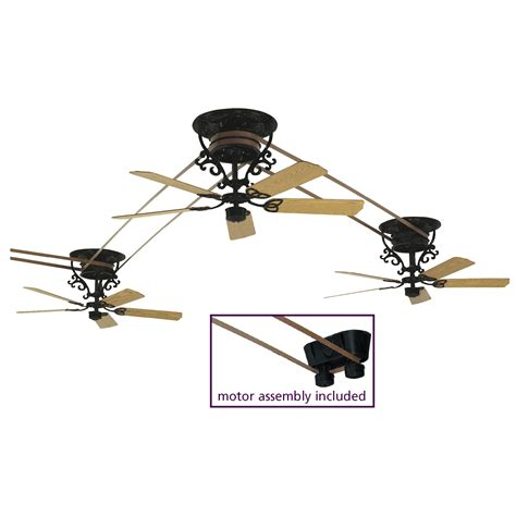 belt driven ceiling fan with light fanimation fp580bl 18 s3 bourbon collection