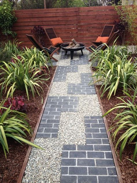 image result  wood edging  pea gravel walkway