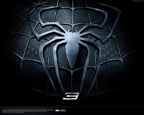 superheros spider man  black logo
