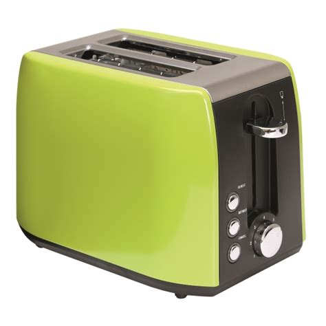 Quest Stainless Steel Toaster (lime Green)  Low Wattage
